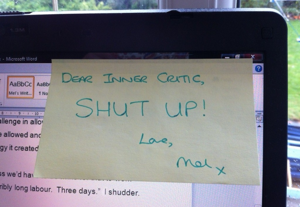 Inner critic reply post-it